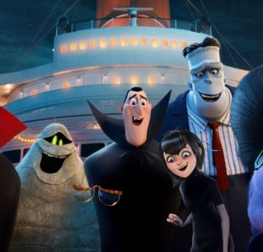 Vlad (Mel Brooks), Murray the Mummy (Keegan-Michael Key), Invisible Man (David Spade), Dracula (Adam Sandler), Mavis (Selena Gomez), Frank (Kevin James) and Eunice (Fran Drescher) in Columbia Pictures and Sony Pictures Animation's HOTEL TRANSYLVANIA 3: SUMMER VACATION.