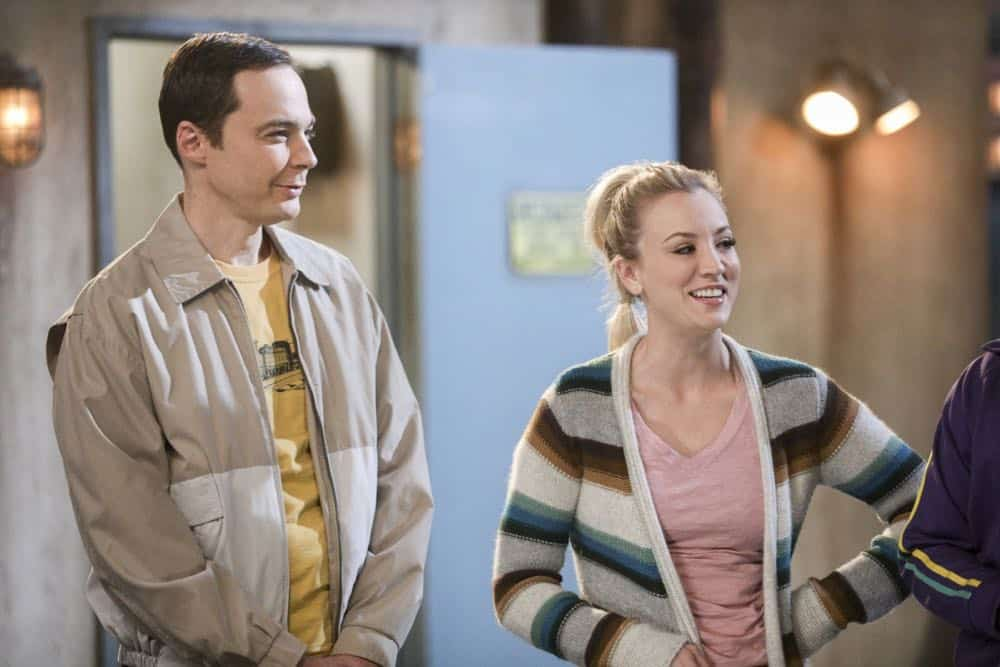 """""""The Comet Polarization"""" - Pictured: Sheldon Cooper (Jim Parsons) and Penny (Kaley Cuoco). Sheldon's comic book store experience changes when writer Neil Gaiman puts Stuart's store on the map.  Also, Koothrappali takes credit for Penny's astronomical discovery and friendships are threatened, on THE BIG BANG THEORY, Thursday, April 19 (8:00-8:31 PM, ET/PT), on the CBS Television Network. Photo: Jordin Althaus/Warner Bros. Entertainment Inc. © 2018 WBEI. All rights reserved."""