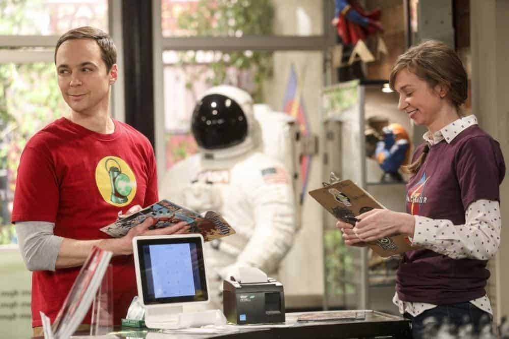 """""""The Comet Polarization"""" - Pictured: Sheldon Cooper (Jim Parsons) and Denise (Lauren Lapkus). Sheldon's comic book store experience changes when writer Neil Gaiman puts Stuart's store on the map. Also, Koothrappali takes credit for Penny's astronomical discovery and friendships are threatened, on THE BIG BANG THEORY, Thursday, April 19 (8:00-8:31 PM, ET/PT), on the CBS Television Network. Photo: Jordin Althaus/Warner Bros. Entertainment Inc. © 2018 WBEI. All rights reserved."""