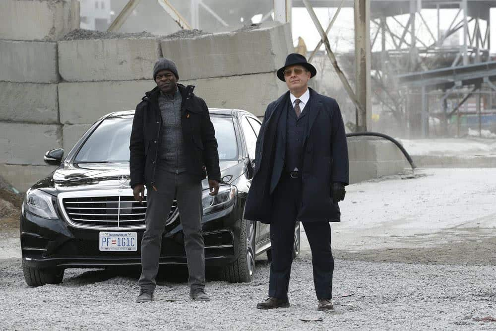 "THE BLACKLIST -- ""Ian Garvey (#13): Conclusion"" Episode 519 -- Pictured: (l-r) Hisham Tawfiq as Dembe Zuma, James Spader as Raymond ""Red"" Reddington -- (Photo by: Will Hart/NBC)"