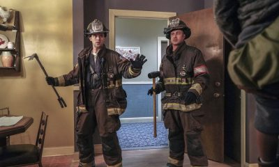 "CHICAGO FIRE -- ""When They See Us Coming"" Episode 618 -- Pictured: (l-r) Jesse Spencer as Matthew Casey, Taylor Kinney as Kelly Severide -- (Photo by: Elizabeth Morris/NBC)"