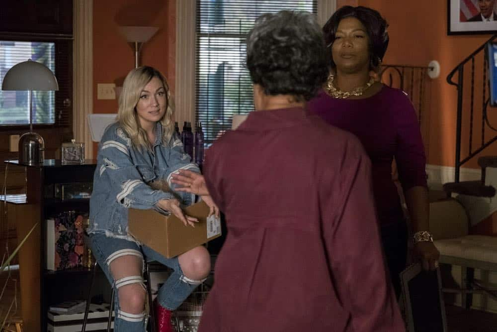 """STAR: L-R: Jude Demorest, guest star Juanita Jennings and Queen Latifah in the """"Forward (E)Motion"""" episode of STAR airing Wednesday, April 18 (9:00-10:00 PM ET/PT) on FOX. ©2018 Fox Broadcasting Co. CR: Wilford Harewood/FOX"""