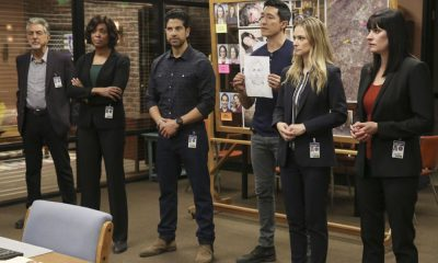 """Mixed Signals"" -- The BAU is called to Taos, N.M. to investigate an UnSub who is targeting his victims' temporal lobes, on the first episode of the double-episode 13th season finale of CRIMINAL MINDS, Wednesday, April 18 (9:00-10:00 PM, ET/PT) on the CBS Television Network. Pictured: Joe Mantegna (David Rossi), Aisha Tyler (Dr. Tara Lewis), Adam Rodriguez (Luke Alvez), Daniel Henney (Matt Simmons), A.J. Cook (Jennifer Jareau), Paget Brewster (Emily Prentiss) Photo: Michael Yarish/CBS ©2018 CBS Broadcasting, Inc. All Rights Reserved"