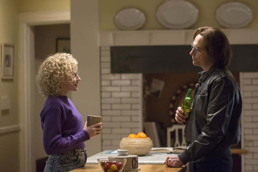 """THE AMERICANS -- """"Mr. and Mrs. Teacup"""" -- Season 6, Episode 4 (Airs Wednesday, April 18, 10:00 pm/ep) -- Pictured: (l-r) Julia Garner as Kimmy, Matthew Rhys as Philip Jennings. CR: Eric Liebowitz/FX"""