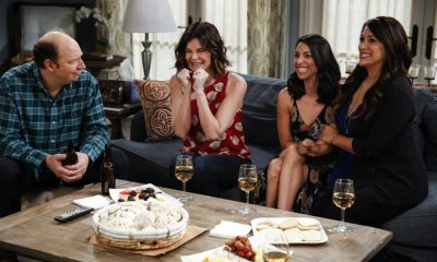"""Sitter Dating Sister Mattress"" -- Jen and Greg go to great lengths to find the perfect babysitter for Lark. Also, John becomes testy when shopping for a mattress and Joan realizes the unusual source of his aggravation; Heather learns information about Samantha's boyfriend that she isn't sure she should reveal; and Matt believes he may have a history with Colleen's sister after he meets her for the first time, on LIFE IN PIECES, Thursday, April 12 (9:30-10:00 PM, ET/PT) on the CBS Television Network. Pictured: Dan Bakkedahl (Tim Hughes), Betsy Brandt (Heather Hughes), Jade Catta-Preta (Rita), Angelique Cabral (Colleen Brandon-Ortega) Photo: Cliff Lipson/CBS ©2018 CBS Broadcasting, Inc. All Rights Reserved"