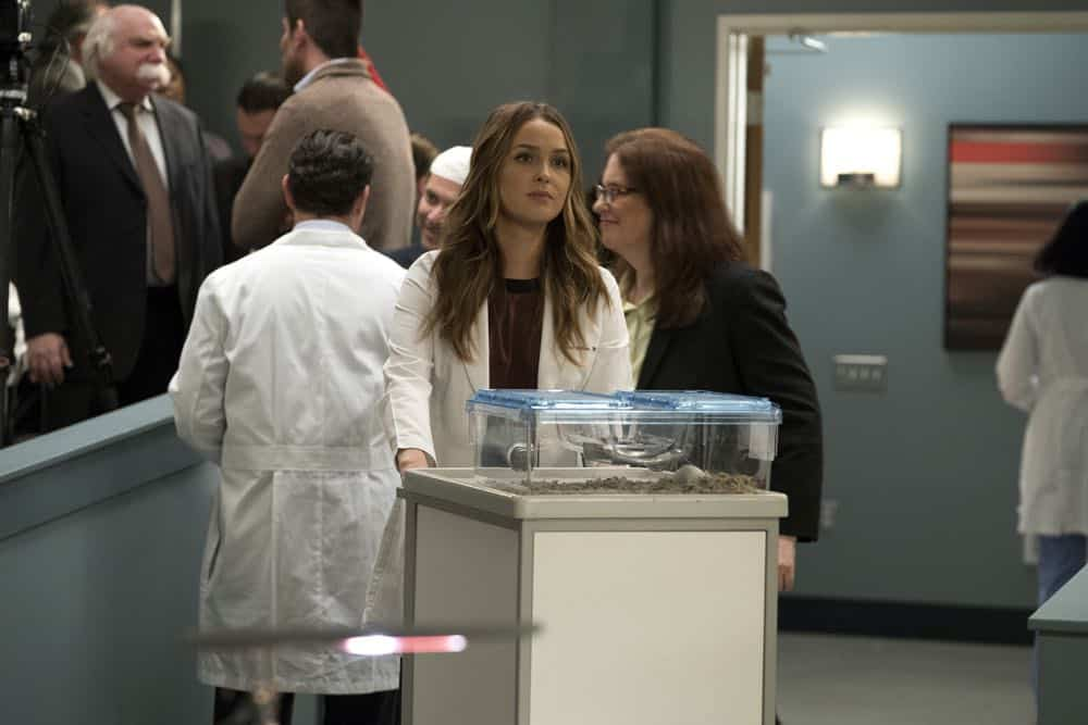 "GREY'S ANATOMY - ""Judgment Day"" - During presentations on Grey Sloan Surgical Innovation Prototypes Day, Arizona shares some cookies from an appreciative patient that, unbeknownst to her, contain a special ingredient. Meanwhile, Catherine reveals some shocking details to Jackson about his grandfather's past; and Jo steps in mid-operation on a major surgery after Bailey and Meredith are down for the count, on ""Grey's Anatomy,"" THURSDAY, APRIL 19 (8:00-9:00 p.m. EDT), on The ABC Television Network. (ABC/Byron Cohen) CAMILLA LUDDINGTON"