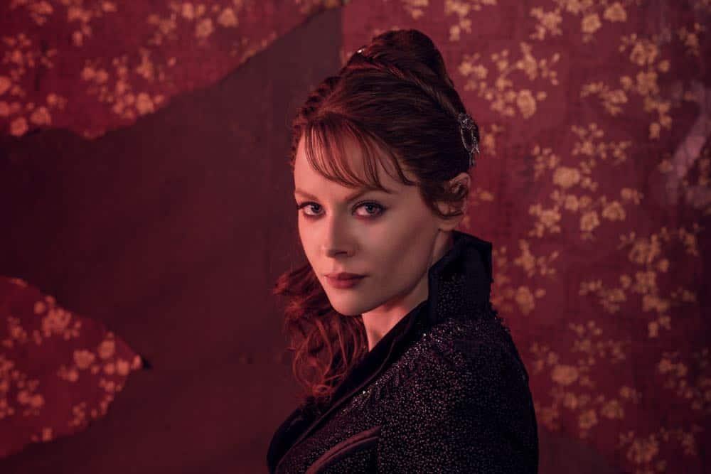 Emily Beecham as The Widow- Into the Badlands _ Season 3, Gallery - Photo Credit: Alan Clarke/AMC