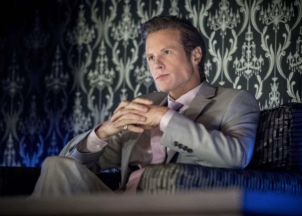 """Arrow -- """"The Dragon"""" -- Image Number: AR619a_0049.jpg -- Pictured: Ashton Holmes as Eric Cartier -- Photo: Dean Buscher/The CW -- © 2018 The CW Network, LLC. All rights reserved."""