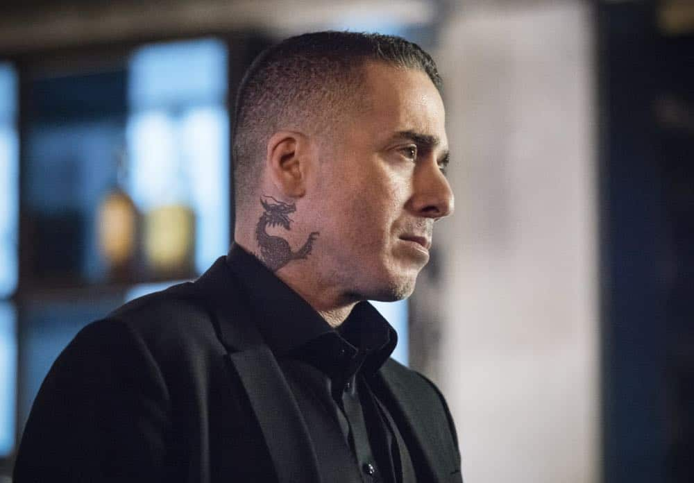 "Arrow -- ""The Dragon"" -- Image Number: AR619a_0112.jpg -- Pictured: Kirk Acevedo as Ricardo Diaz -- Photo: Dean Buscher/The CW -- © 2018 The CW Network, LLC. All rights reserved."