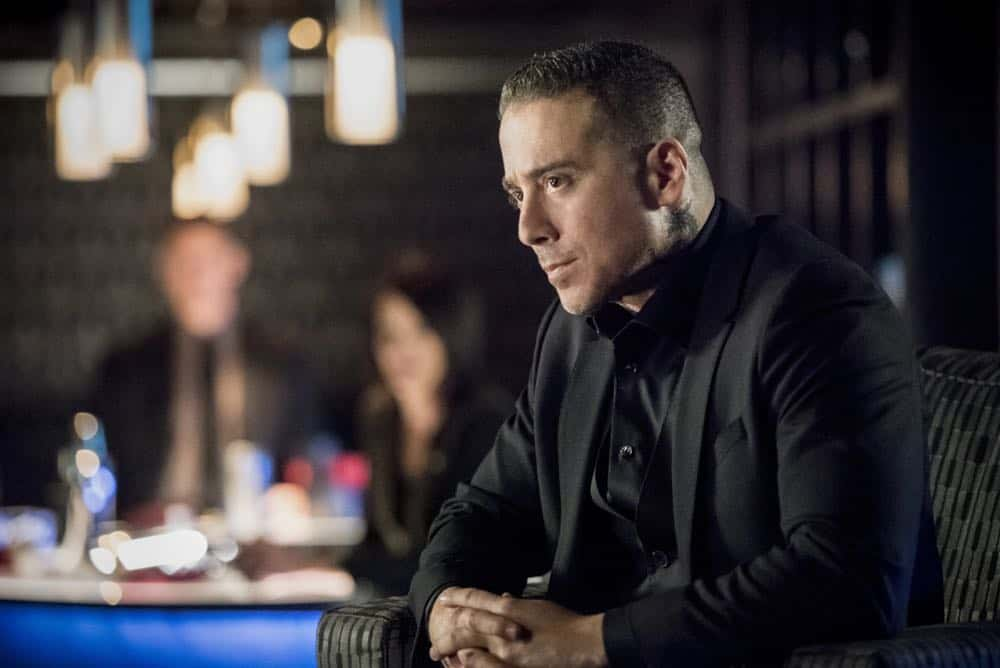"""Arrow -- """"The Dragon"""" -- Image Number: AR619a_0162.jpg -- Pictured: Kirk Acevedo as Ricardo Diaz -- Photo: Dean Buscher/The CW -- © 2018 The CW Network, LLC. All rights reserved."""