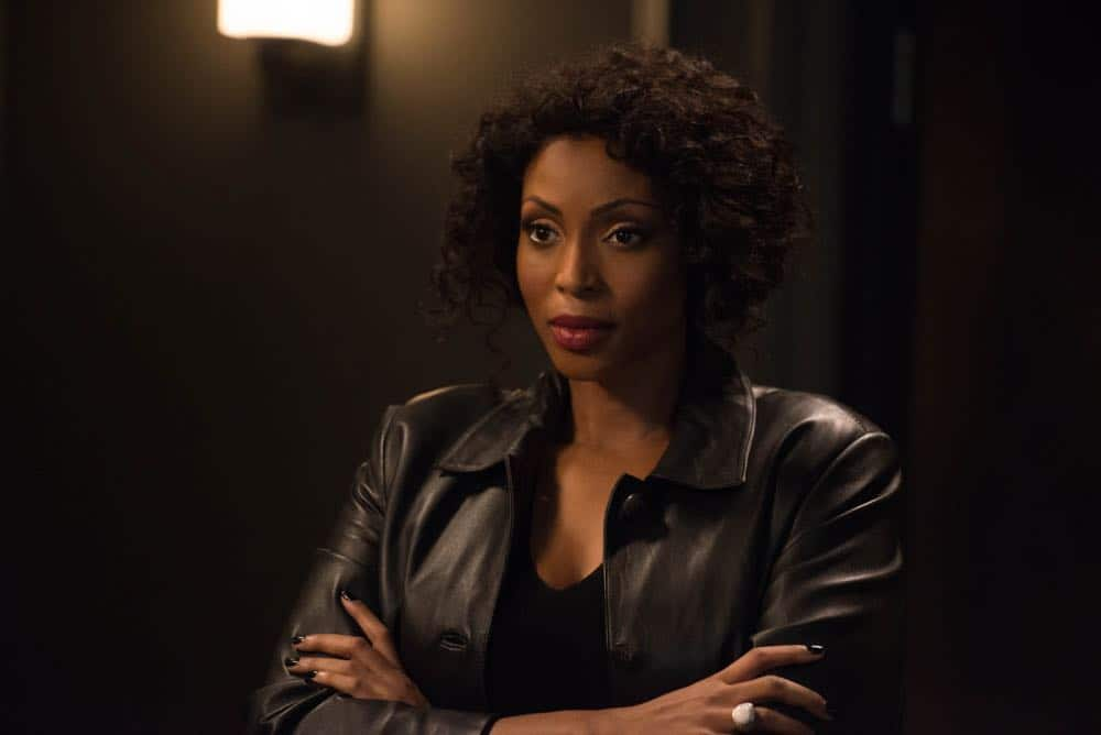 "Supernatural -- ""Funeralia"" -- Image Number: SN1319a_0173b.jpg -- Pictured: Lisa Berry as Billie -- Photo: Diyah Pera/The CW -- © 2018 The CW Network, LLC. All rights reserved"