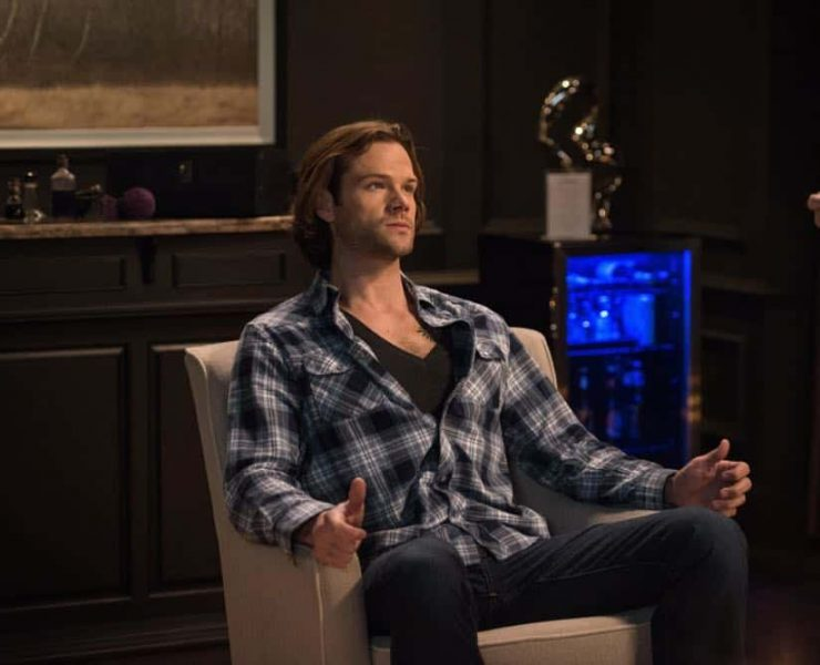 "Supernatural -- ""Funeralia"" -- Image Number: SN1319a_0242b.jpg -- Pictured: Jared Padalecki as Sam -- Photo: Diyah Pera/The CW -- © 2018 The CW Network, LLC. All rights reserved"