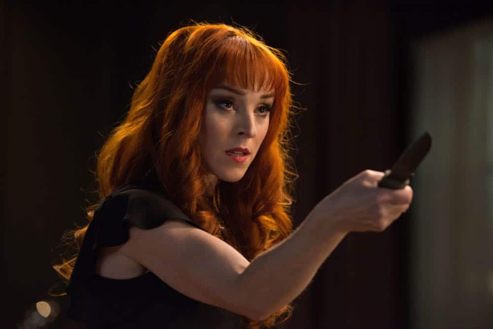 "Supernatural -- ""Funeralia"" -- Image Number: SN1319a_0372b.jpg -- Pictured: Ruth Connell as Rowena -- Photo: Diyah Pera/The CW -- © 2018 The CW Network, LLC. All rights reserved"