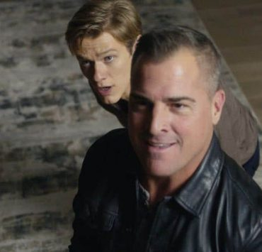 """""""Skyscraper - Power"""" -- Mac and Jack attempt to rescue a billionaire's son after he is kidnapped by a former Navy SEAL who uses an EMP weapon to cut off power and communication lines to the Shanghai skyscraper where the boy lives, on MACGYVER, Friday, April 13 (8:00-9:00 PM, ET/PT) on the CBS Television Network. Ed Asner and Piper Laurie guest star as a couple on a private jet commandeered by Mac and Jack to fly to Shanghai. Pictured: Lucas Till, George Ends Photo: CBS ©2018 CBS Broadcasting, Inc. All Rights Reserved"""
