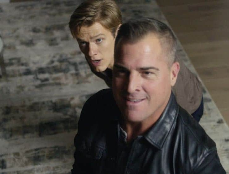 """Skyscraper - Power"" -- Mac and Jack attempt to rescue a billionaire's son after he is kidnapped by a former Navy SEAL who uses an EMP weapon to cut off power and communication lines to the Shanghai skyscraper where the boy lives, on MACGYVER, Friday, April 13 (8:00-9:00 PM, ET/PT) on the CBS Television Network. Ed Asner and Piper Laurie guest star as a couple on a private jet commandeered by Mac and Jack to fly to Shanghai. Pictured: Lucas Till, George Ends Photo: CBS ©2018 CBS Broadcasting, Inc. All Rights Reserved"