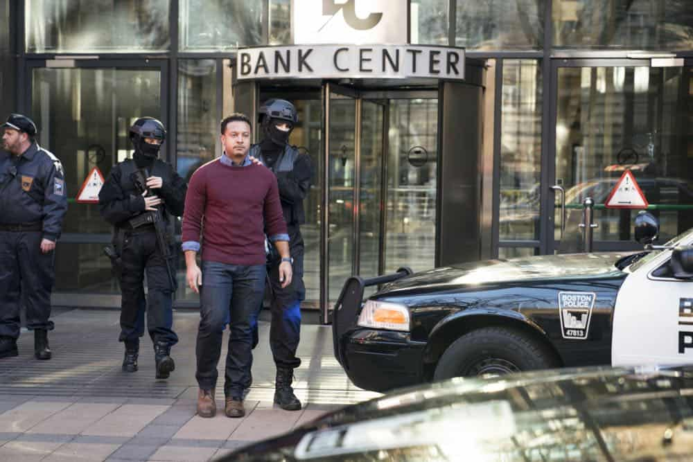 """""""Alters"""" -- As Eric and Zara provide risk assessment services at an investment bank, they are taken hostage by a gunman targeting a low-level accountant, and Eric must negotiate for their release, on RANSOM, Saturday, April 14 (8:00-9:00 PM, ET/PT) on the CBS Television Network.  Pictured: Brandon Jay McLaren (Oliver Yates)  Photo: Dávid Lukács © 2018 Ransom Television Productions Inc."""