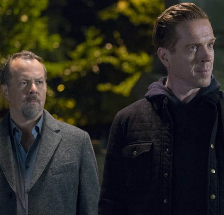 """David Costabile as Mike """"Wags"""" Wagner and Damian Lewis as Bobby """"Axe"""" Axelrod in BILLIONS (Season 3, Episode 04, """"Hell of a Ride""""). - Photo: Jeff Neumann/SHOWTIME - Photo ID: BILLIONS_304_633.R.jpg"""