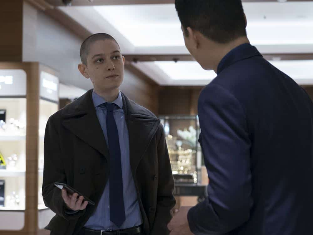 "Asia Kate Dillon as Taylor in BILLIONS (Season 3, Episode 04, ""Hell of a Ride""). - Photo: Jeff Neumann/SHOWTIME - Photo ID: BILLIONS_304_972.R.jpg"