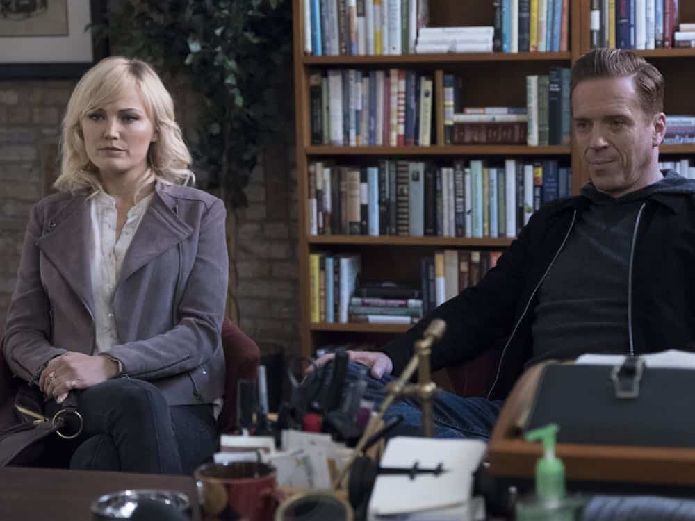 "Malin Akerman as Lara Axelrod and Damian Lewis as Bobby ""Axe"""" Axelrod in BILLIONS (Season 3, Episode 04, ""Hell of a Ride""). - Photo: Jeff Neumann/SHOWTIME"