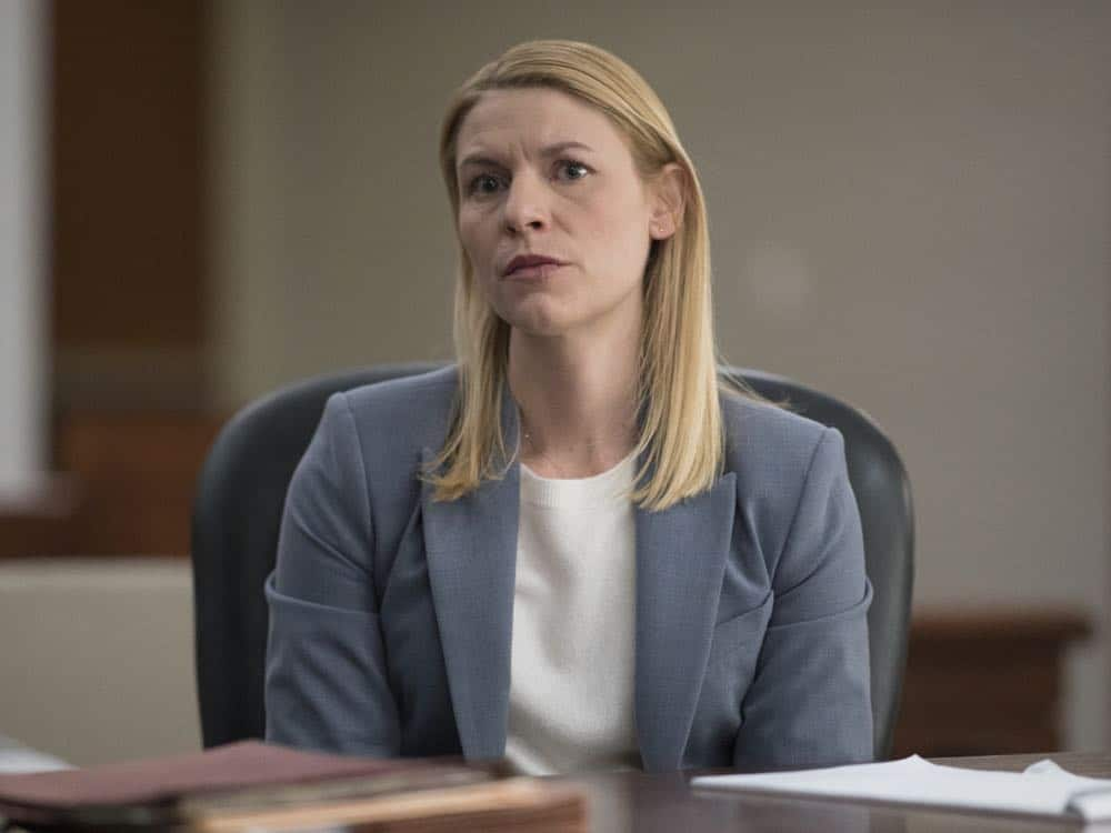 "Claire Danes as Carrie Mathison in HOMELAND (Season 7, Episode 10, ""Clarity""). - Photo: Antony Platt/SHOWTIME"