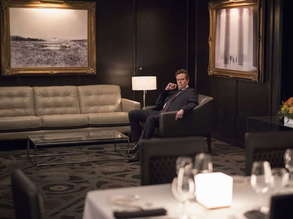 "Dylan Baker as Senator Paley in HOMELAND (Season 7, Episode 10, ""Clarity""). - Photo: Antony Platt/SHOWTIME"
