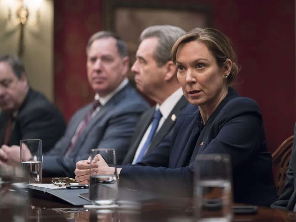 "Elizabeth Marvel as President Keane in HOMELAND (Season 7, Episode 10, ""Clarity""). - Photo: Antony Platt/SHOWTIME"