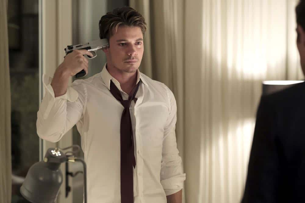 "THE ARRANGEMENT -- ""The Breakup"" Episode 206 -- Pictured: Josh Henderson as Kyle West -- (Photo by: Eike Schroter/E! Entertainment)"