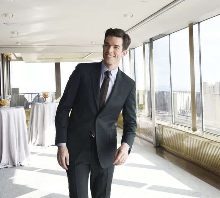 "SATURDAY NIGHT LIVE -- Episode 1743 ""John Mulaney"" -- Pictured: Host John Mulaney during a promo in Rockefeller Plaza -- (Photo by: Rosalind O'Connor/NBC)"