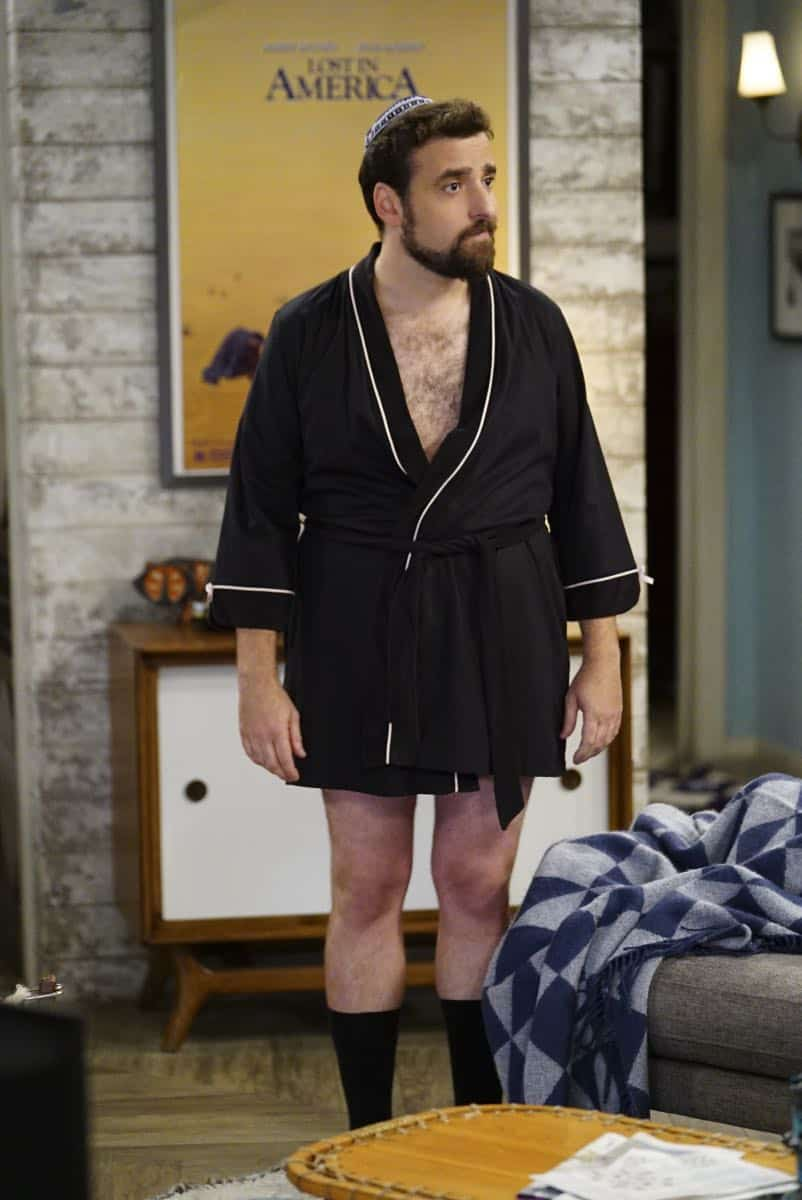 ÒShow HospitalityÓ Ð Chip and LeslieÕs patience is tested when they invite Rabbi Gil to stay with them after he discovers his wife is having an affair, on LIVING BIBLICALLY, Monday, April 16 (9:30-10:00PM, ET/PT) on the CBS Television Network. Pictured: David Krumholtz as Rabbi Gil Photo: Sonja Flemming/CBS ©2017 CBS Broadcasting, Inc. All Rights Reserved