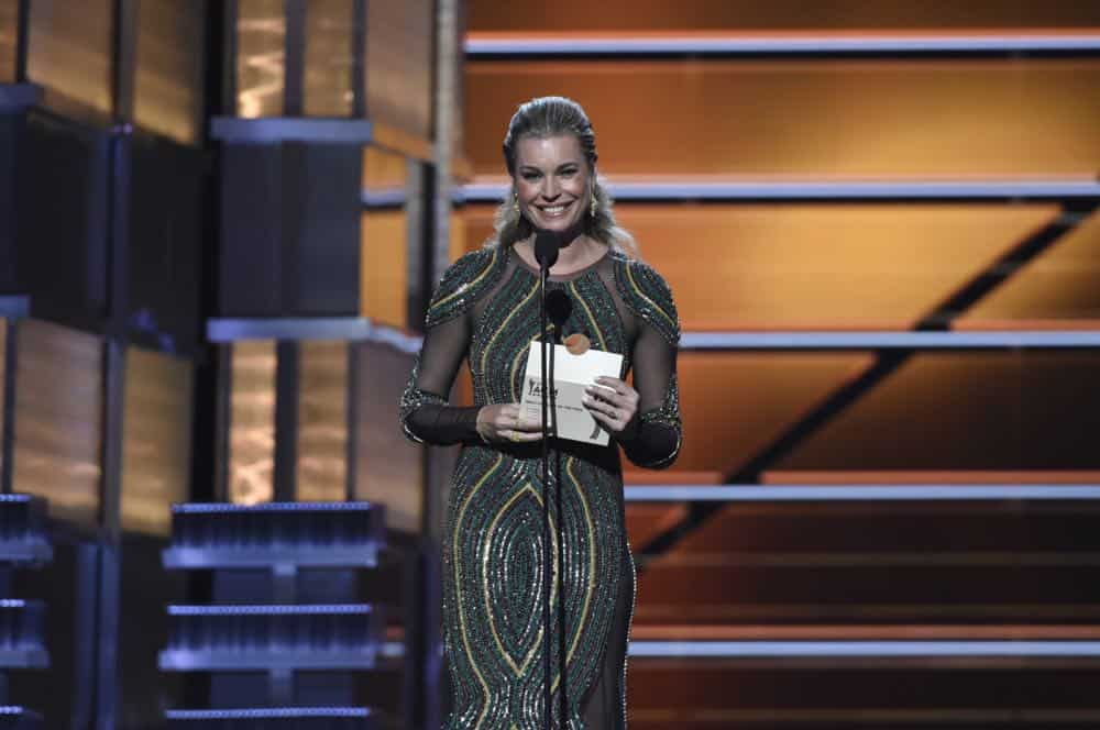 Rebecca Romijn presents at the 53RD ACADEMY OF COUNTRY MUSIC AWARDS, live from the MGM Grand Garden Arena in Las Vegas Sunday, April 15, 2018 at 8:00 PM ET/PT on CBS.  Photo: Michele Crowe/CBS ©2018 CBS Broadcasting, Inc. All Rights Reserved