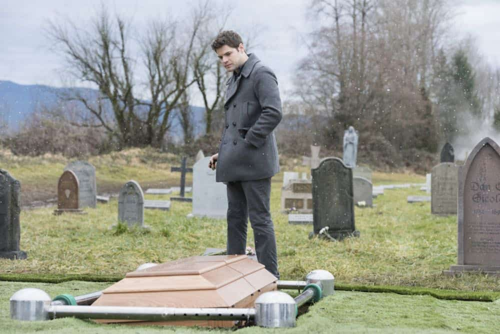 "Supergirl -- ""Schott Through the Heart"" -- Image Number: SPG314b_0131.jpg -- Pictured: Jeremy Jordan as Winn -- Photo: Dean Buscher/The CW -- © 2018 The CW Network, LLC. All rights reserved."