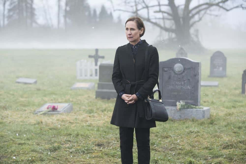 "Supergirl -- ""Schott Through the Heart"" -- Image Number: SPG314b_0171.jpg -- Pictured: Laurie Metcalf as Mary McGowan -- Photo: Dean Buscher/The CW -- © 2018 The CW Network, LLC. All rights reserved."