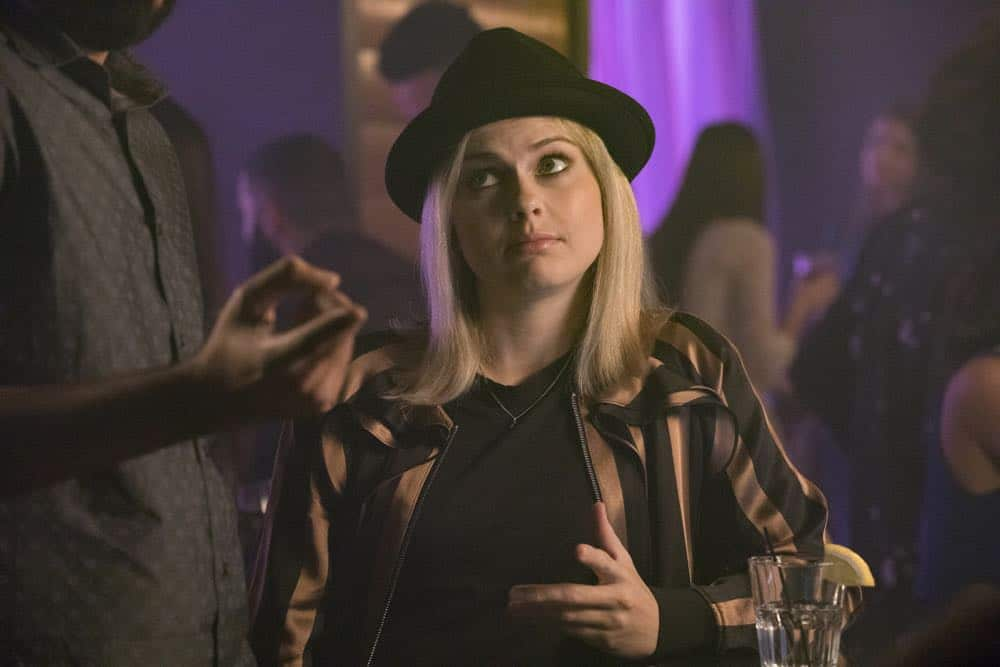 "iZombie -- ""Don't Hate the Player, Hate the Brain"" -- Image Number: ZMB407b_0047b.jpg -- Pictured: Rose McIver as Liv -- Photo Credit: Jack Rowand/The CW -- © 2018 The CW Network, LLC. All Rights Reserved"