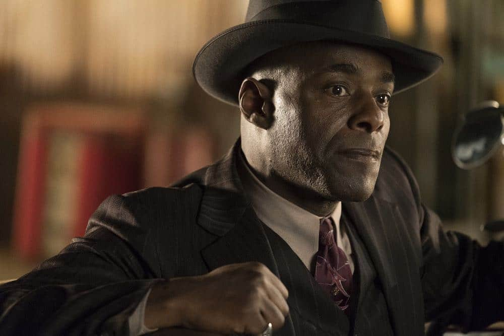 "TIMELESS -- ""King of Delta Blues"" Episode 206 -- Pictured: Paterson Joseph as Connor Mason -- (Photo by: Justin Lubin/NBC)"