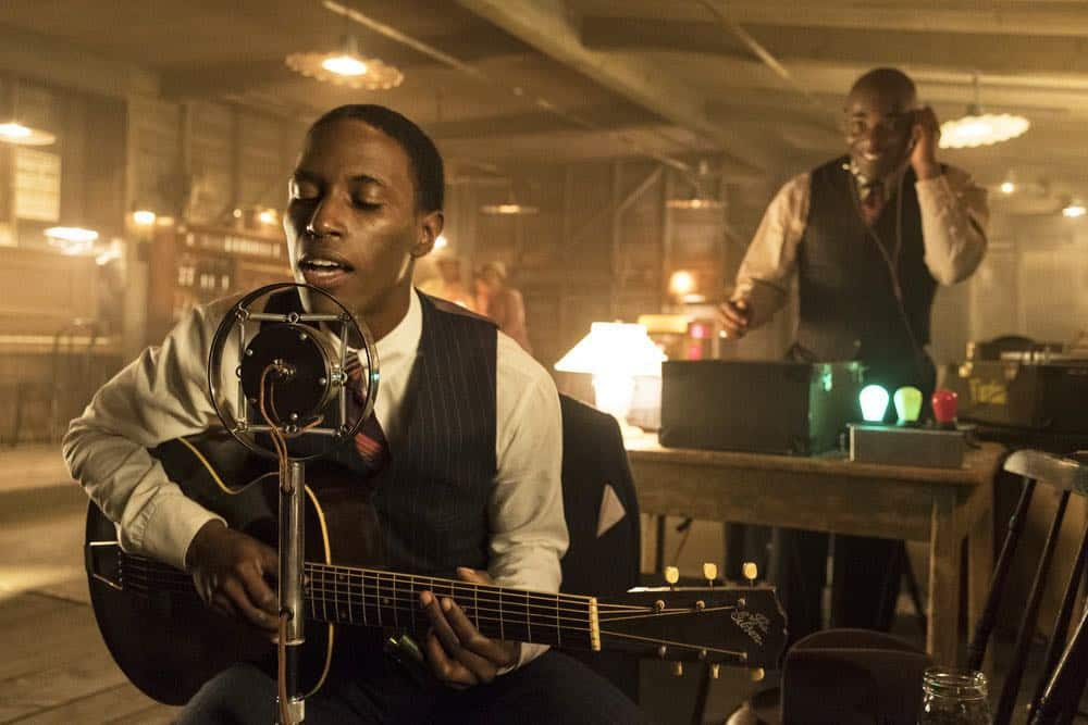 "TIMELESS -- ""King of Delta Blues"" Episode 206 -- Pictured: Kamal Naiqui as Robert Johnson -- (Photo by: Justin Lubin/NBC)"