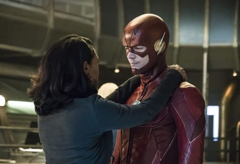 "The Flash -- ""Lose Yourself"" -- Image Number: FLA418a_0253b.jpg -- Pictured (L-R): Candice Patton as Iris West and Grant Gustin as The Flash -- Photo: Katie Yu/The CW -- © 2018 The CW Network, LLC. All rights reserved"