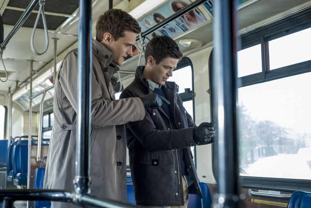 "The Flash -- ""Lose Yourself"" -- Image Number: FLA418a_0019b.jpg -- Pictured (L-R): Hartley Sawyer as Dibney and Grant Gustin as Barry Allen -- Photo: Katie Yu/The CW -- © 2018 The CW Network, LLC. All rights reserved"