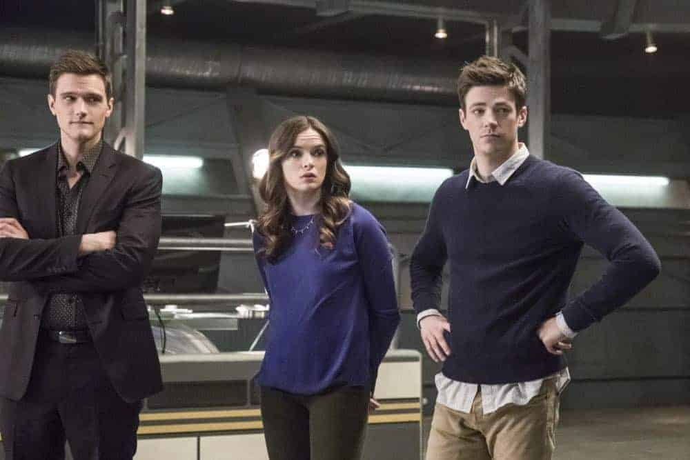 "The Flash -- ""Lose Yourself"" -- Image Number: FLA418a_0092b.jpg -- Pictured (L-R): Hartley Sawyer as Dibney, Danielle Panabaker as Caitlin Snow and Grant Gustin as Barry Allen -- © 2018 The CW Network, LLC. All rights reserved"