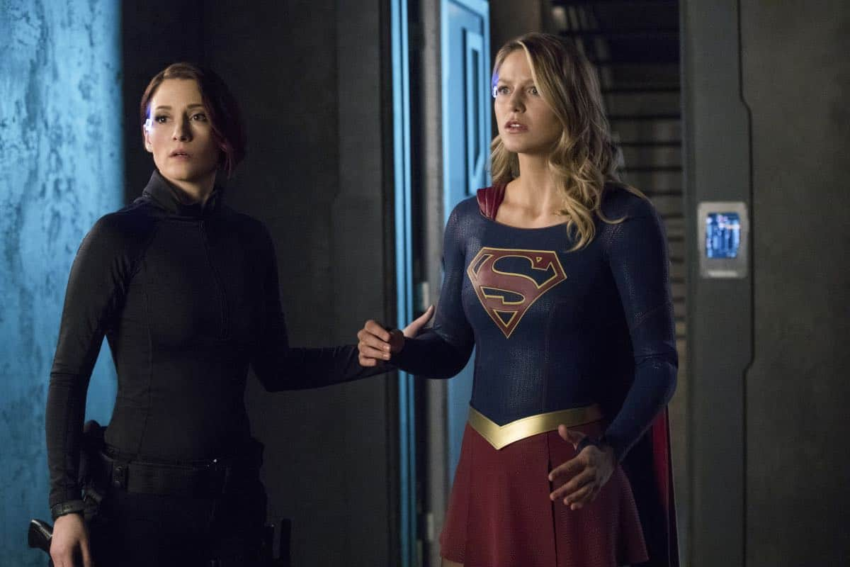 """Supergirl -- """"In Search of Lost Time"""" -- Image Number: SPG315b_0203.jpg -- Pictured (L-R): Chyler Leigh as Alex and Melissa Benoist as Kara/Supergirl -- Photo: Jack Rowand/The CW -- © 2018 The CW Network, LLC. All Rights Reserved."""