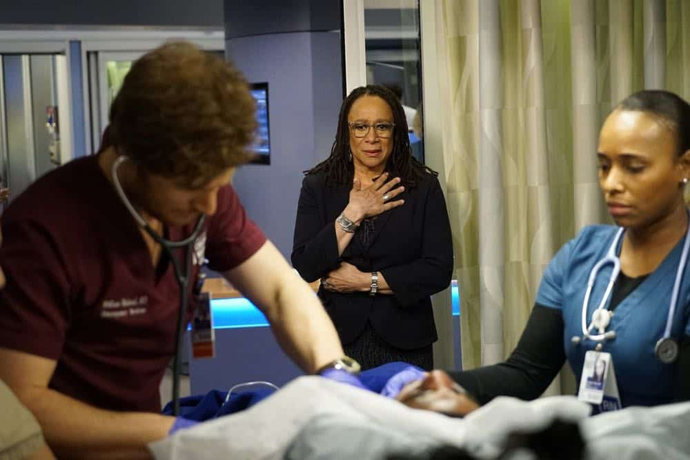 "CHICAGO MED -- ""An Inconvenient Truth"" Episode 316 -- Pictured: S. Epatha Merkerson as Sharon Goodwin -- (Photo by: Elizabeth Sisson/NBC)"