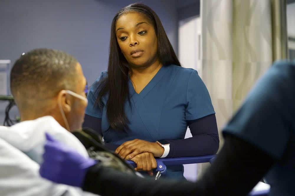 "CHICAGO MED -- ""An Inconvenient Truth"" Episode 316 -- Pictured: Marlyne Barrett as Maggie Lockwood -- (Photo by: Elizabeth Sisson/NBC)"