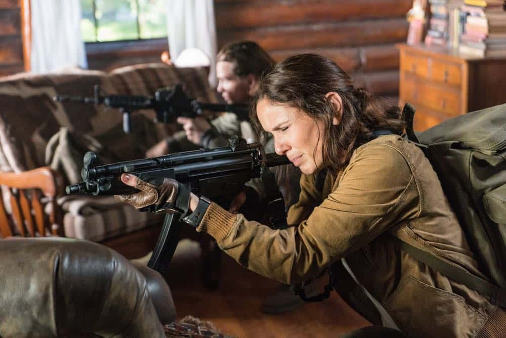 "COLONY -- ""Maquis"" Episode 301 -- Pictured: Sarah Wayne Callies as Katie Bowman -- (Photo by: Daniel Power/USA Network)"