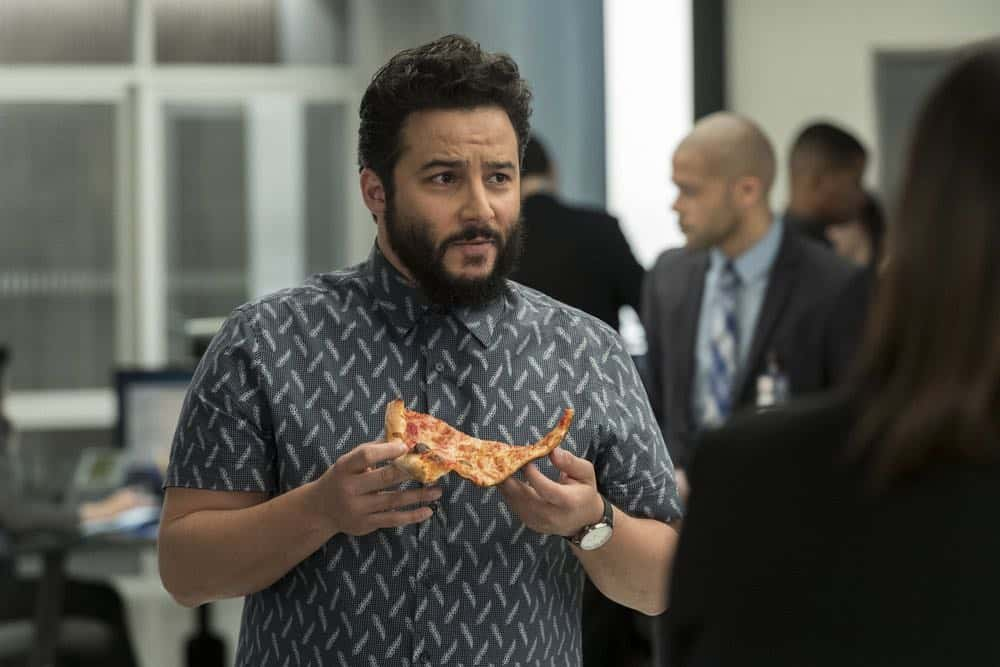 "BLINDSPOT -- ""Clamorous Night"" Episode 318 -- Pictured: Ennis Esmer as Rich Dotcom -- (Photo by: David Giesbrecht/NBC/Warner Bros)"