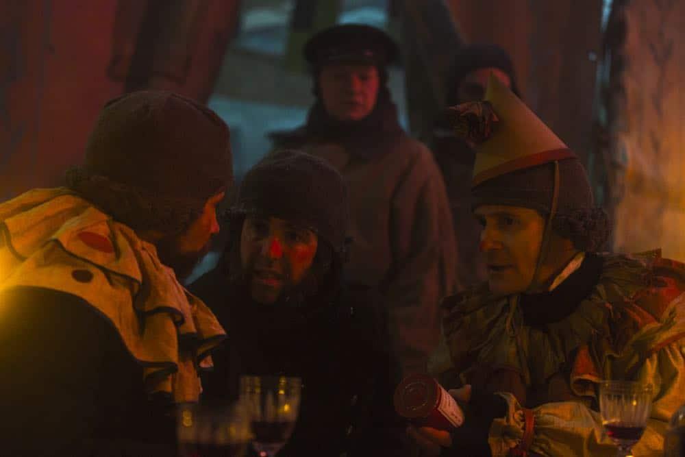 Jared Harris as Francis Crozier, Paul Ready as Dr. Henry Goodsir- The Terror _ Season 1, Episode 6 - Photo Credit: Aidan Monaghan/AMC
