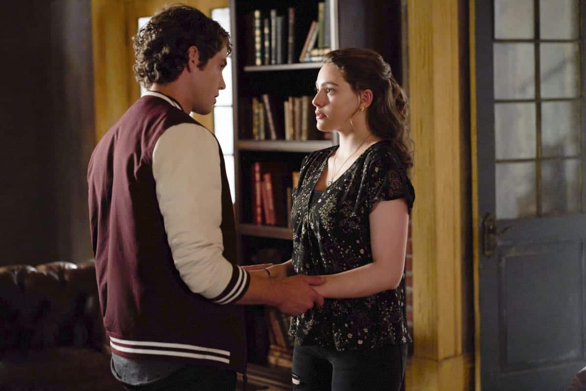 """The Originals -- """"One Wrong Turn on Bourbon"""" -- Image Number: OR502A_0089b.jpg -- Pictured (L-R): Jedidiah Goodacre as Roman and Danielle Rose Russell as Hope -- Photo: Bob Mahoney/The CW -- © 2018 The CW Network, LLC. All rights reserved."""