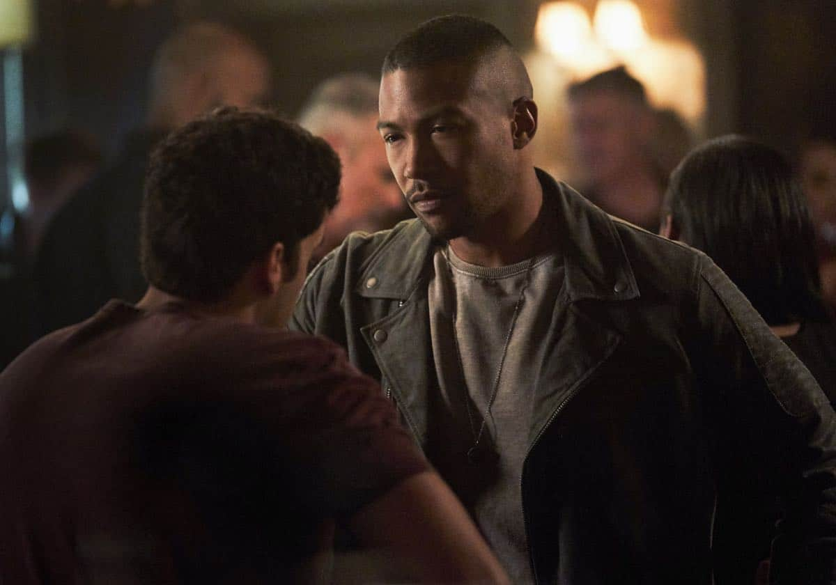 """The Originals -- """"One Wrong Turn on Bourbon"""" -- Image Number: OR502B_0059b.jpg -- Pictured (L-R): Steven Krueger as Josh and Charles Michael Davis as Marcel -- Photo: Bob Mahoney/The CW -- © 2018 The CW Network, LLC. All rights reserved."""