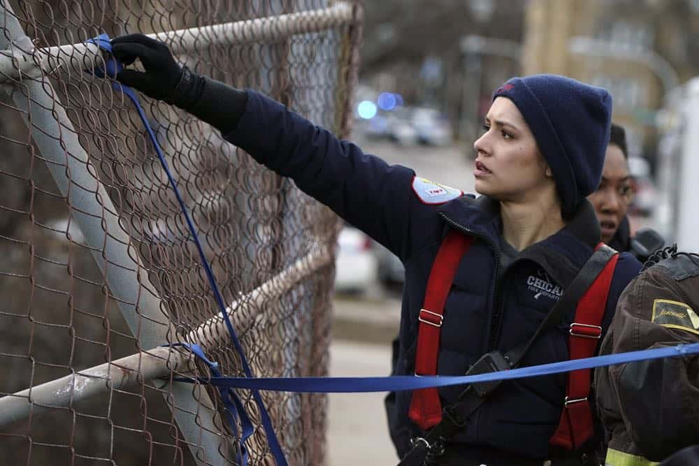 """CHICAGO FIRE -- """"Where I Want To Be"""" Episode 619 -- Pictured: Miranda Rae Mayo as Stella Kidd -- (Photo by: Elizabeth Morris/NBC)"""