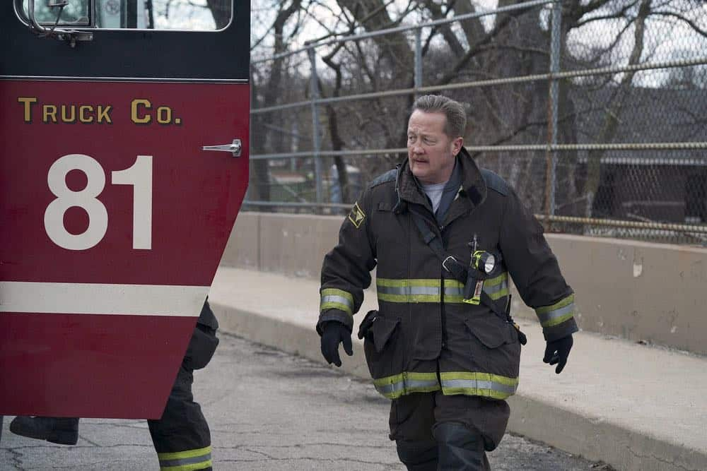 "CHICAGO FIRE -- ""Where I Want To Be"" Episode 619 -- Pictured: Christian Stolte as Mouch -- (Photo by: Elizabeth Morris/NBC)"