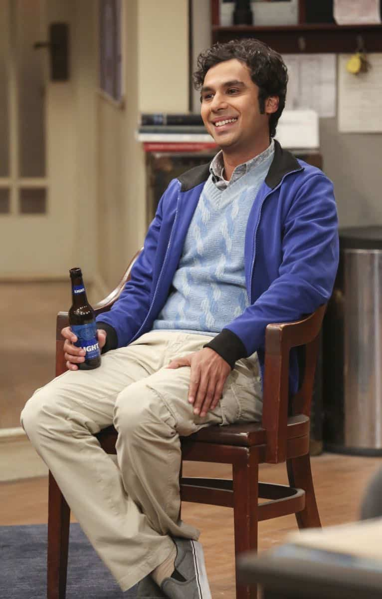 """The Monetary Insufficiency"" - Pictured: Rajesh Koothrappali (Kunal Nayyar). Sheldon goes to Vegas to win money for science. Also, Penny and Bernadette take Amy wedding dress shopping, but her terrible choice entangles them in a web of lies, on THE BIG BANG THEORY, Thursday, April 26 (8:00-8:31 PM, ET/PT) on the CBS Television Network. Photo: Michael Yarish/CBS ©2018 CBS Broadcasting, Inc. All Rights Reserved."