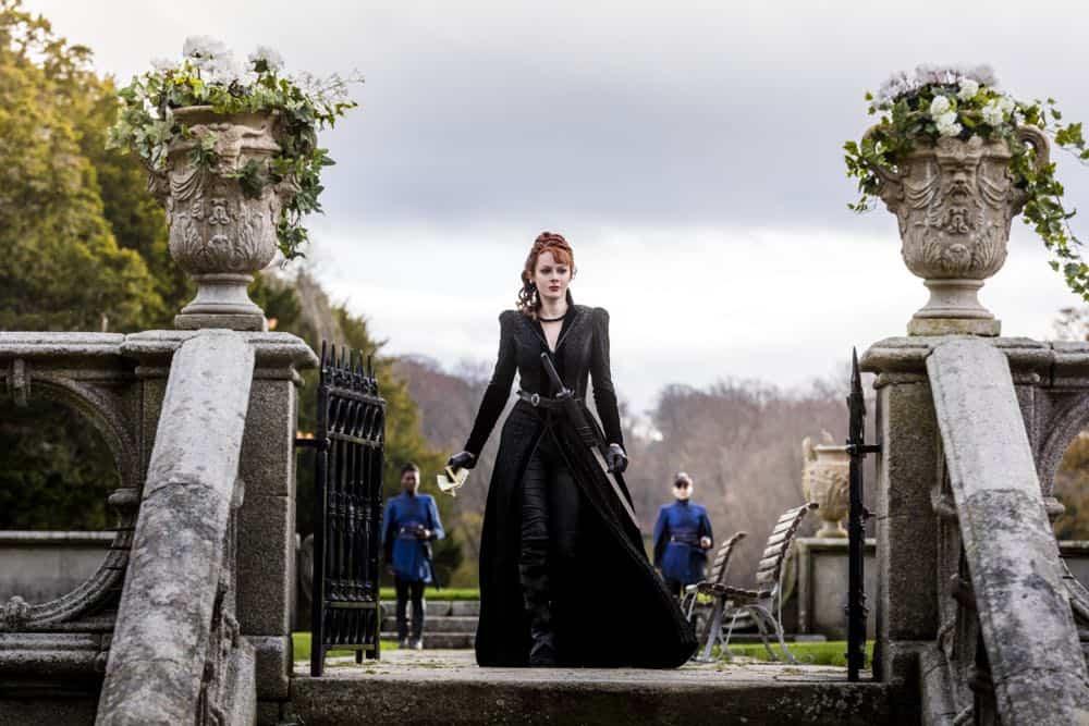 Emily Beecham as The Widow - Into the Badlands _ Season 3, Episode 2 - Photo Credit: Aidan Monaghan/AMC